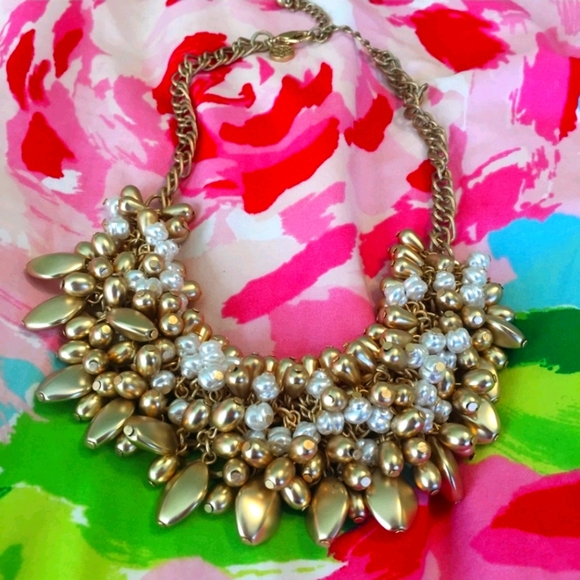 Lilly Pulitzer Alfresco gold and pearl necklace